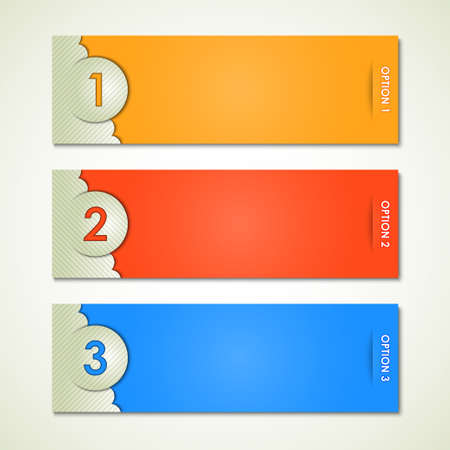 options label vector Illustration