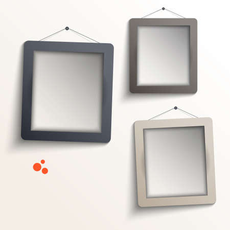 gray frames vector