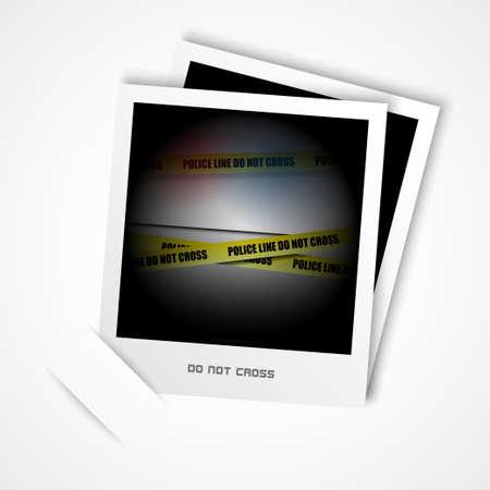murder scene: foto polic�a vector l�nea