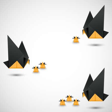 odd job: origami doves options vector