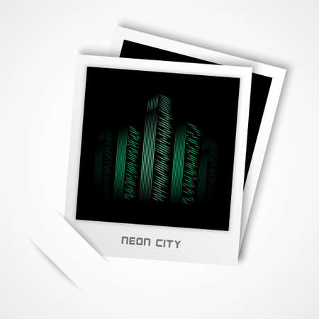 neon city photo vector Stock Vector - 17804772