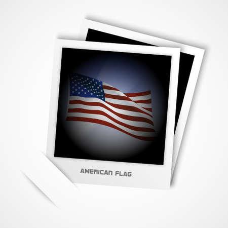 american flag photo vector