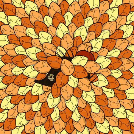 hedgehog in leaves vector Stock Vector - 17948031