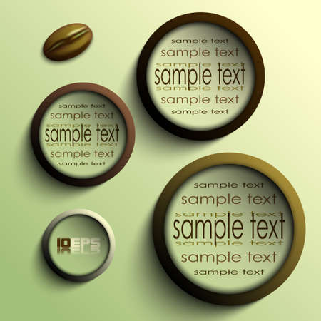 coffee circles vector