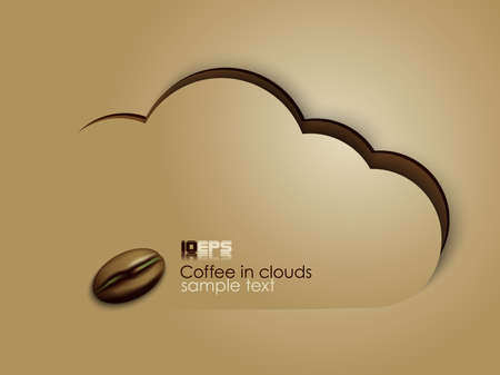 coffee in clouds vector Illustration