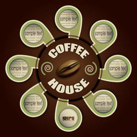 coffee house vector Vector