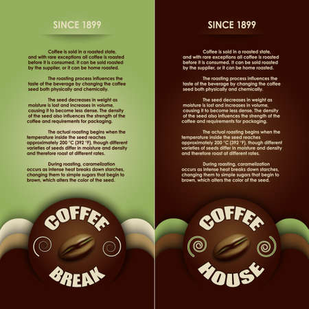 green coffee beans: coffee menu vector