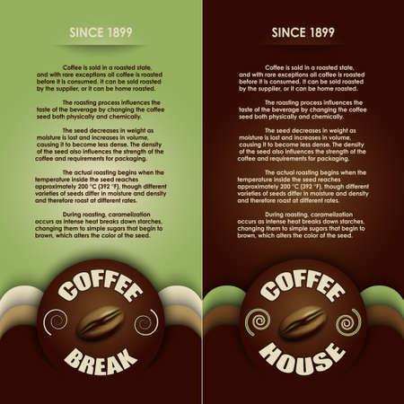 coffee grounds: coffee menu vector
