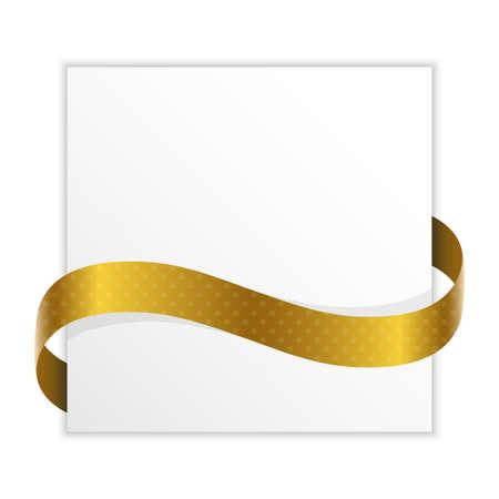 papier met gouden lint vector