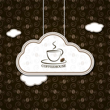 coffee with clouds vector