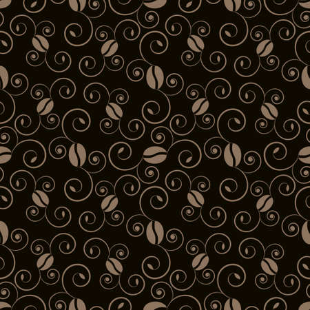coffee pattern  Illustration