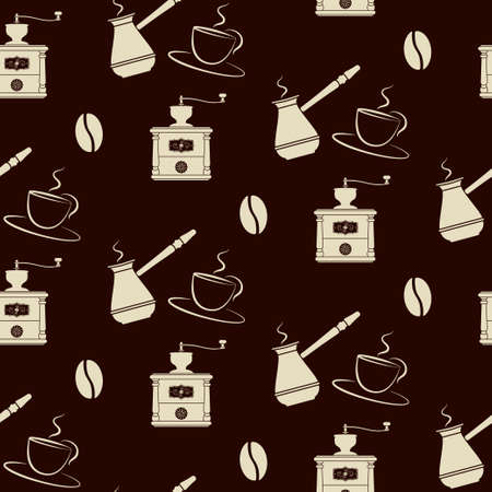 coffee tools pattern  Stock Vector - 17947997