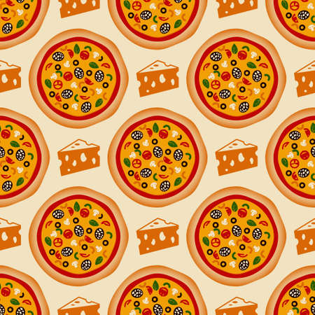 pizza pattern vector Vector