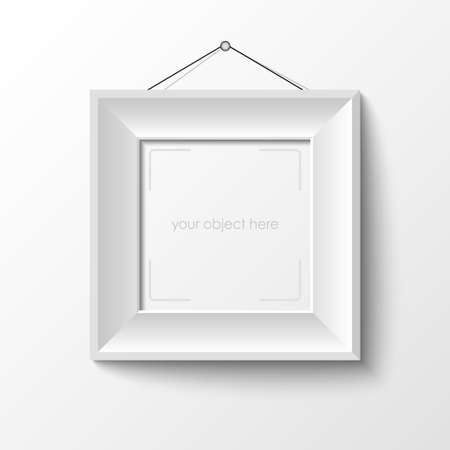 white frame for your image vector Stock Vector - 17947982