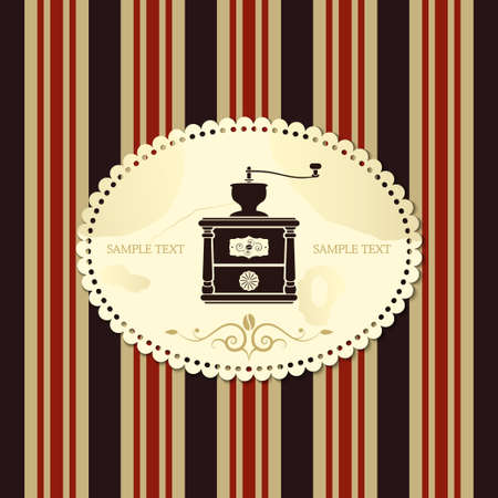 coffee mill: coffee mill retro style vector
