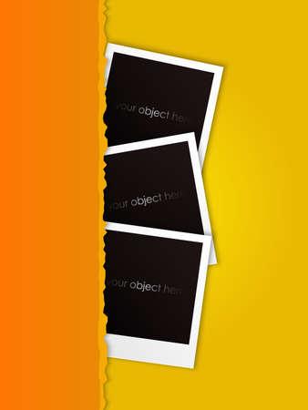 fun torn photos vector Stock Vector - 17948090
