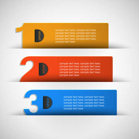 three options for text vector Stock Vector - 17948209
