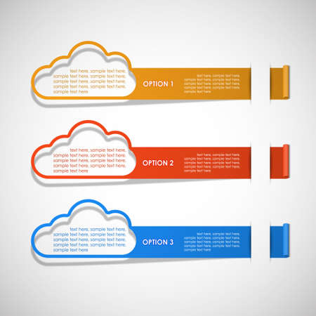 options clouds theme vector Illustration