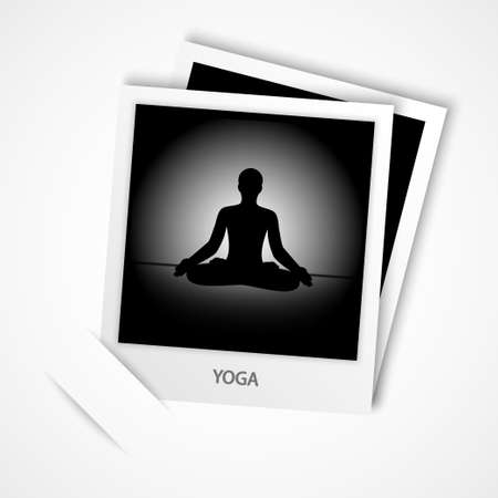 photo of yoga vector Vector