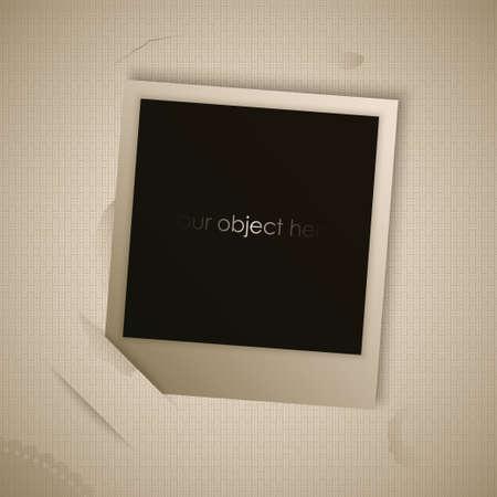 vintage foto: vintage foto voor uw afbeelding of object vector