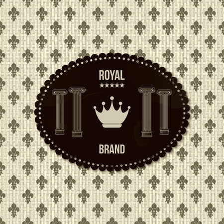 vintage royal background Vector