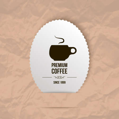 premium coffee background (paper theme) Vector