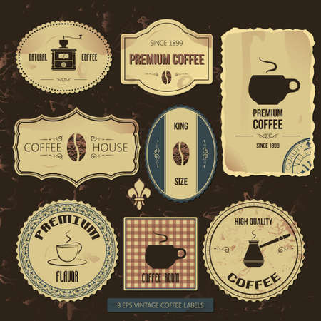 premium coffee vintage labels Vector