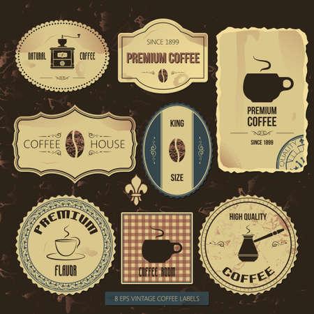 premium coffee vintage labels