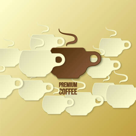 premium coffee background (paper theme)  Illustration