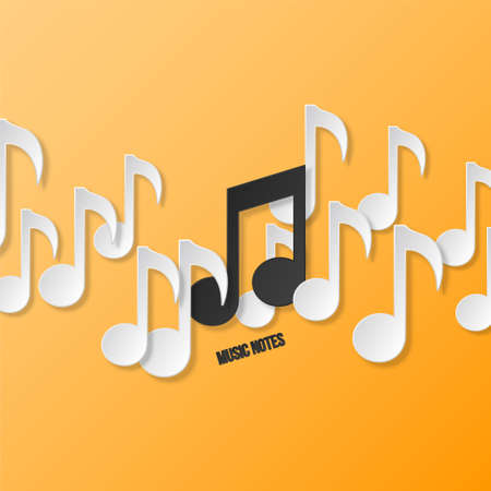 Paper music notes  Vector