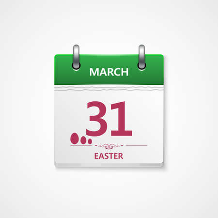 easter day calendar  Stock Vector - 18390613