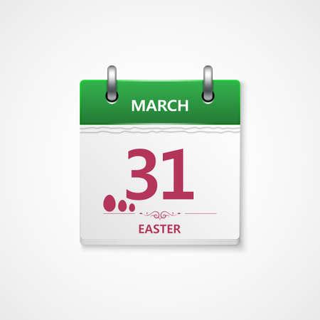 detachable: easter day calendar