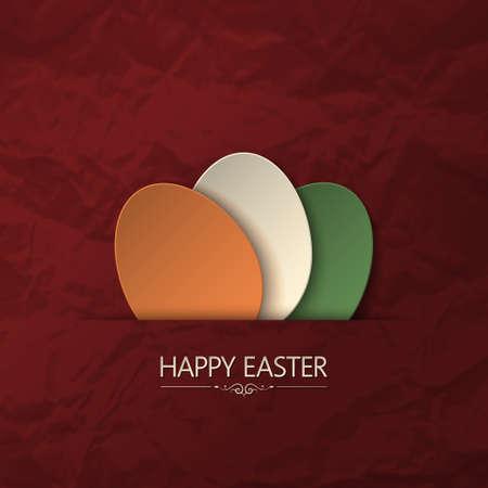 easter egg hunt: happy easter paper background