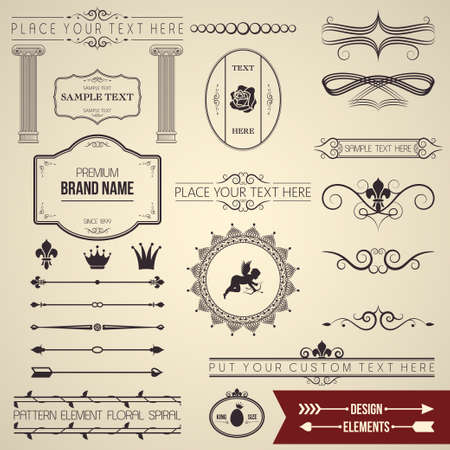 design elements part  Vector