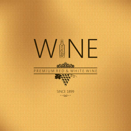 wine label:  wine vintage background  Illustration