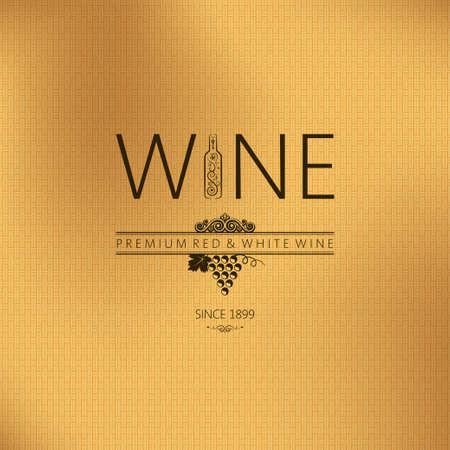 fabric label:  wine vintage background  Illustration