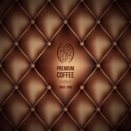 premium coffee  leather theme   Vector