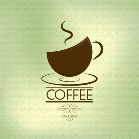 coffee background  olive theme  Vector