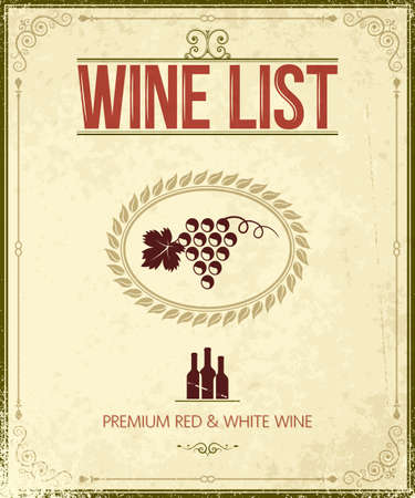 catalog: vintage wine background