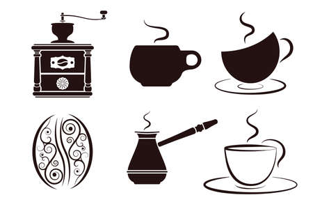 coffee labels set  Vector