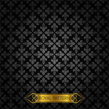 vintage royal background pattern  Vector