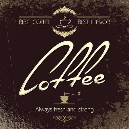vintage coffee menu background  Illustration