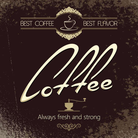 coffeehouse: vintage coffee menu background  Illustration