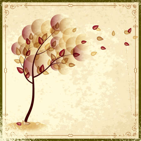 autumn vintage background Vector