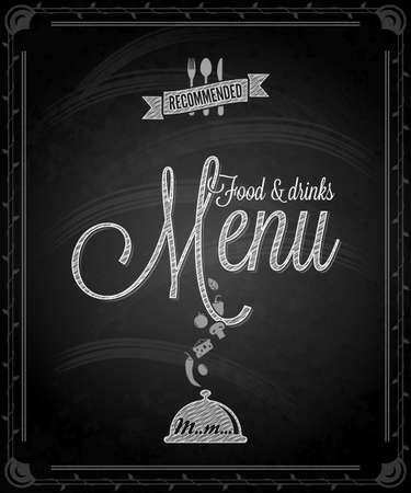 chalkboard - frame food menu  Vector