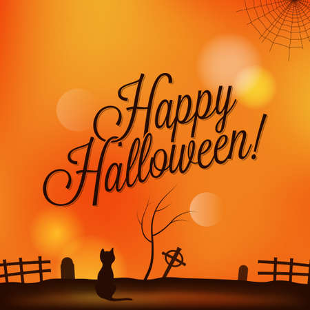 holiday - frame happy halloween Vector