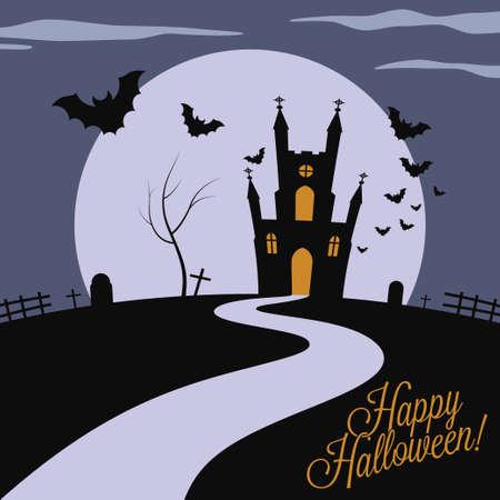 holiday - frame happy halloween Vector