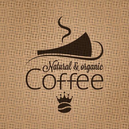vintage cafe: coffee background  Illustration