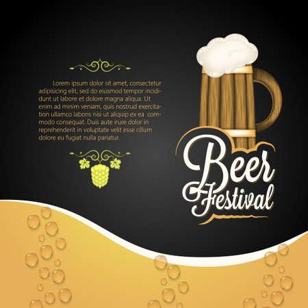 beer card: holiday - frame happy beer festival