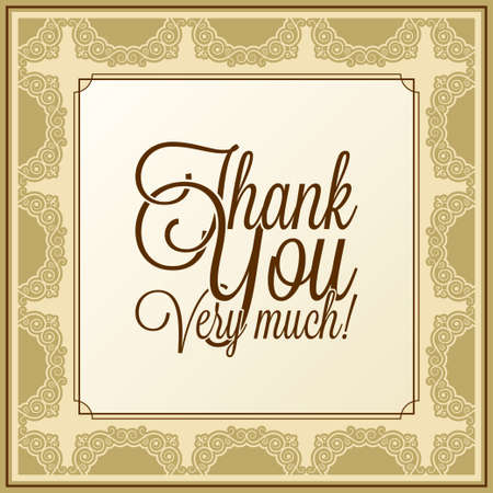 calligraphic lettering - thank you Illustration